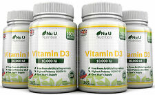 Vitamin D3 10000iu 4 Bottles x 365 Soft Gel Capsules High Strength