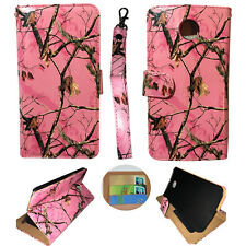 Wallet Pink Camo Mozi For Motorola Nexus 6 Syn Leather Case cover  Flip ID Po