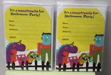 20 MONSTER HALLOWEEN PARTY INVITATIONS Kids Child Fun Cute Invites Hallmark NEW