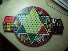 vintage Chinese checkers game metal---good