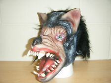 WOLF MONSTER ZOMBIE ADULT LATEX MASK NEW HALLOWEEN WRESTLING FANCY DRESS COSTUME