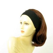 parrucca con bandana elastica corta castano scuro rame intenso MADY 322 PERUK