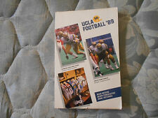 1989 UCLA BRUINS FOOTBALL MEDIA GUIDE Yearbook Program Press Book College AD