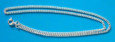 "10 x 16"" silver plated complete curb necklace chains, ideal for pendants"