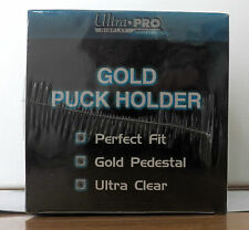 ULTRA-PRO DISPLAY SERIES GOLD PUCK HOLDER BY REMBRANDT LOS ANGELES STOCK #81153