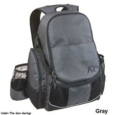 Disc Golf Frisbee Bag Gray Outdoor Deluxe Backpack Holds 21+ Sports Discs NEW