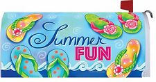 Flip Flop Summer Fun Magnetic Mailbox Cover