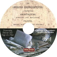 1852 - 1883 American House Carpenter ~ Vintage Design Book on DVD