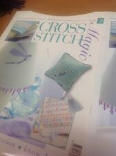 Cross stitch Magazine with Rosebud Sachet and Pansie bumper pattern