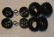 NEW! Tamiya Part Egress 2013 Black Wheels and Hybrid Spike Tires Set of 4 Tires