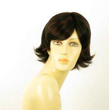parrucca donna 100% capelli naturale breve mechato nero/rosso JENNA 1b410