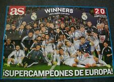 Poster REAL MADRID CF Supercampeones Europa winners UEFA Supercup Cardiff 2015