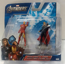 "Marvel Avengers Iron Man Thor 2.5"" Action Figures 2012 Damaged Package"