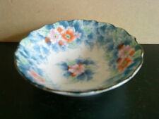 Japanese Chinese floral candy / trinket dish with floral bouquet design - signed