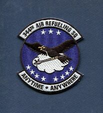 344th ARS Anytime Anywhere USAF BOEING KC-135 STRATOTANKER Squadron Patch