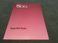MINT 1985 Model SAAB 900 TURBO 8 VALVE - UK 10 PAGE BROCHURE