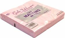 60 x NAPKINS 2PLY 40CM PINK SERVIETTES TABLEWARE PARTY SUPPLIES CATERING EVENTS