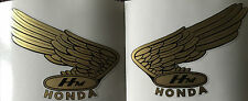 HONDA CR RC OLD RACE STYLE WING PETROL TANK DECALS 3