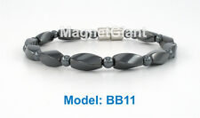 High power magnetic all black hematite beads bracelet for natural healing