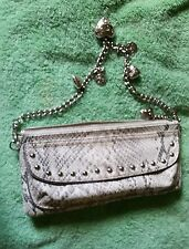 Kathy Van Zeeland alligator skin Evening Purse Clutch Handbag Bag