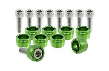 VMS RACING GREEN 8MM 8 MM HEADER CUP BOLT WASHER KIT FOR HONDA ACURA JDM BOLTS