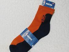 NEW NBA BASKETBALL Logoman Player Crew Socks Mens Large Size ORANGE & NAVY BLUE