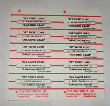 Boots Randolph Full Sheet 10 Jukebox Title Strips My Sweet Lord GEORGE HARRISON