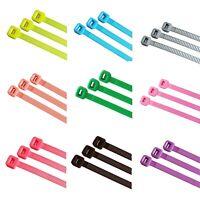 100 Stück Kabelbinder farbig, natur, schwarz, in vielen Größen, bitte wählen