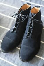 NEW $515 Alfred Sargent for J.Crew - Suede Cap Toe Boots, US 11 - Navy Blue