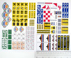 CUSTOM AIRPORT STICKERS LOT for MODELS, TOYS, 3182, 7734, ETC