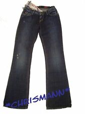 MISS SIXTY Jeans NEU W27 / L32 Damen Hose Extra Low Ty Blau Used Gr.34 Destroyed