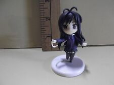 """#A420 Unknown Anime 2.5""""in Black Hair Girl Purple Top Green Skirt"""