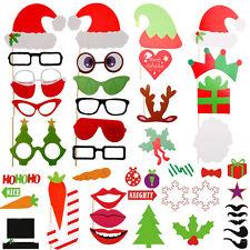 50tlg Karneval Hochzeit  Weihnachten Party Foto Maske Schnurrbart Brille Prop