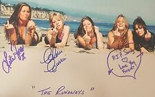 Runaways Cherie Currie Lita Ford Signed Autographed 12x18 Photo -Joan Jett Sandy