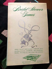 BRIDAL SHOWER 1955 Vintage Book Baby Shower Party GAMES