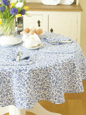 William MORRIS Merton BLU 147cm ROUND Cotone Floreale TABLECLOTH.