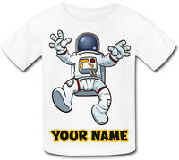 SPACE ASTRONAUT PERSONALISED SUBLIMATION KIDS T-SHIRT - NAMED BOY'S GIRL'S GIFT