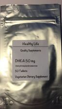 HEALTHY LIFE DHEA 50mg 50 VEGETARIAN TABLETS  FREE WORLDWIDE SHIPPING