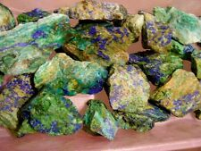 Chrysocolla azurite all natural mine rough 1-3 inch blue blue/green 2 pound lots