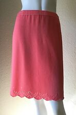 ST. JOHN COLLECTION Size 6 Peach with Scallop Hem Detail Santana Knit Skirt