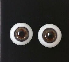 20mm DESIGNER BLOWN CRYSTAL GLASS EYES REBORN TOPAZ