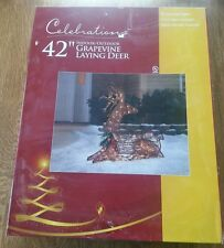 "42"" GRAPEVINE LAYING DEER BY CELEBRATIONS 53136-71 9265026 INDOOR/ OUTDOOR"