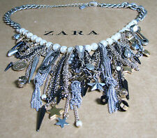 Zara Necklace Vintage Style Necklace Skull Star Charm Chain Silver Gold Color