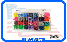 ACRYLIC Unicycle Dispenser ORGANIZER With 560 Keys ELASTOMERIC TIES 28 Colors