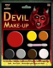 DEVIL MULTI PALLET KIT HALLOWEEN SKIN MAKE UP HORROR FACE MAKE UP FANCY DRESS
