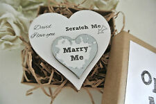 Marry Me Personalised Heart Wedding Valentines  Gift Proposal Keepsake