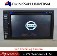 """6.2"""" Double 2 DIN Car DVD Player Stereo for Nissan universal GPS CD  BT Radio"""