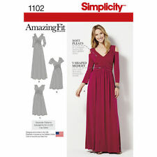 SIMPLICITY Sewing Pattern Miss Women Plus Size AMAZING FIT Dress~1102 Sz 10-18