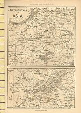 c1877 MAP ~ THE SEAT OF WAR IN ASIA ~ COUNTY AROUND KARS