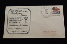 NAVAL SPACE COVER 1966 GEMINI GTA-11 RECOVERY SHIP USS McCAFFERY (DD-860) (2643)